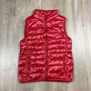 Uniqlo Red Down Puffer Vest